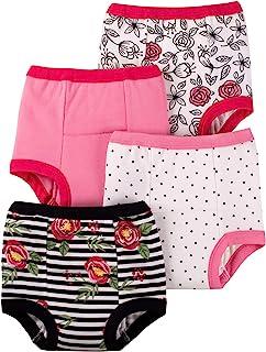Lamaze *婴儿女童*训练裤 4 件装 粉色/白色/花朵 2T