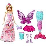 Barbie 芭比 童话故事 装扮娃娃,美人鱼和公主服装和配件