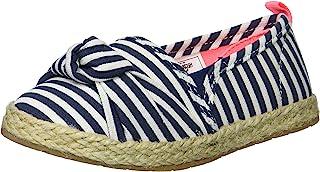 OshKosh B'Gosh 儿童 Belle 女孩沙滩帆布便鞋平底乐福鞋