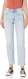 Silver Jeans Co. 女式 Frisco 高腰直筒牛仔裤