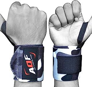 AQF 手腕绷带健身毛皮举重手腕绷带支撑身体健身力量运动手腕支撑 - 成对出售