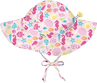 i play. by green sprouts 婴儿和幼儿帽檐*帽 | 全天候*指数 UPF 50+ *指数 粉色 Sealife 2-4T