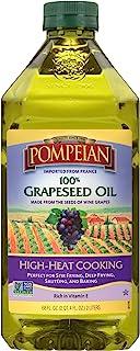 Pompeian 葡萄籽油 味道轻盈细腻 适合高温烹饪、深煎炸和烘焙 富含维生素 E 不含麸质 无刺激 ,68 液体盎司(2升)/瓶* 1瓶
