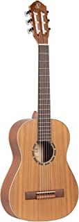 Ortega Guitars 6 弦家庭系列 1/2 尺寸尼龙经典吉他,带包,右手,雪松顶部自然缎,(R122-1/2)
