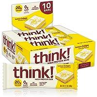 Think Products-thinkThin 高蛋白质酒吧柠檬喜悦-10 酒吧