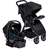 Britax B-Clever 轻质婴儿车 + B-Safe 35 婴儿汽车座椅 旅行系统 带儿童托盘 | 单手可折叠…