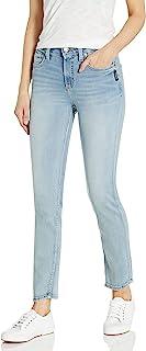 Silver Jeans Co. 女式 Avery 曲线修身高腰直筒牛仔裤