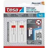 tesa 德莎粘钩,适用于壁纸和石膏,可调整,承重,2件 2x 1kg