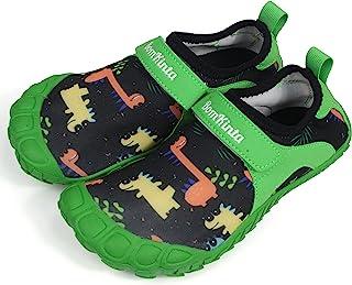 BomKinta 儿童涉水鞋 赤脚男孩女孩速干运动鞋 适合海滩或水上运动
