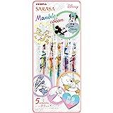Zebra 斑马 中性笔 SARASA CLIP 大理石彩纹 0.5毫米 限定款 迪士尼主题设计 5色套装 滚珠笔 JJ…