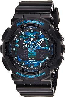 Casio GA100CB-1A Men's G-Shock Hue Ana-Digi Black Dial Black Resin Strap World Time Alarm Dive Watch