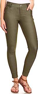 YELETE 女式基本款五口袋弹力紧身长裤