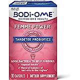 Schiff 旭福 Bodi-Ome Femme Power 用于阴道和微生物组的益生元胶囊٭(一盒30粒),经过验证对…