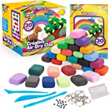 Creative Kids 儿童空气干燥粘土模型工艺套件 适合儿童 – 超轻* – 30 种鲜艳颜色和 3 个粘土工具…
