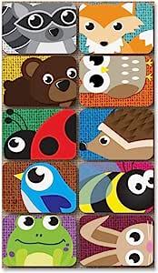 Ashley Productions Keyhole Critters 无磁性迷你白板擦(10 个装),5.08 厘米 x 3.81 厘米 x 1.75 厘米