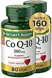 Nature's Bounty 自然之宝 辅酶 Q10 软胶囊,膳食补充剂,有益于心脏,200 毫克,2包,160 粒