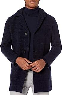 Billy Reid 男士单排扣兰卡斯特汽车外套,带皮革细节