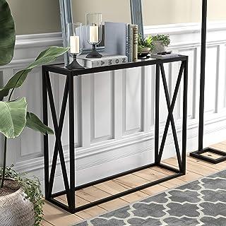Henn&Hart 黑铜控制台桌,91.44 厘米,黑色