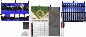 PowerNet 终极教练团队套装   磁性阵容板   悬挂头盔收纳袋   围栏盒适用于 12 个球棒