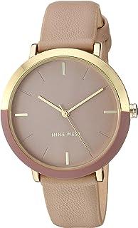Nine West 女士金色和棕褐色表带手表,NW/2346GPTN