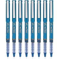 PILOT Precise V5 棒液体墨水滚珠棒笔,超细笔尖(0.5毫米)蓝色,8 支装 (15325)