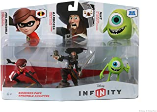 DISNEY INFINITY Figure 3 件套:Sidekicks (Mrs. Incredible、Barbossa、Mike)