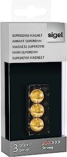 SIGEL GL719 SuperDym磁鐵球 金色 3 件 直徑 12.7 毫米 玻璃磁性板 - 多種設計