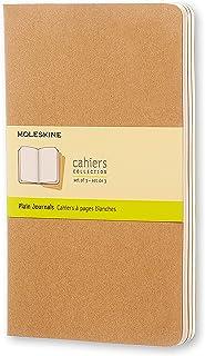 Moleskine Cahiers 棕色纯白轻便笔记本(大型)