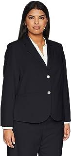 Calvin Klein 女士加大码双扣Lux 外套 *蓝 18W