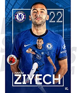 Be The Star Posters Chelsea FC 2020/21 Hakim Ziyech A2 足球海报/印刷/墙艺术 - 官方*产品 - 提供 A3 和 A2 (A2)