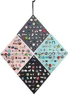 4 件悬挂胸针收纳袋,墙面展示横幅,适用于珐琅别针、纽扣和标签系列,*多可容纳 172 个别针。(仅包)(4 件)