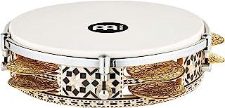 Meinl Percussion Artisan Edition Riq 鼓带黄铜叮当鼓,适用于阿拉伯民俗/古典音乐 — 埃及制造 — 8 3/4 英寸(约 21.4 厘米)合成头和木框,白色珍珠马赛克皇家,2 年保修(AERIQ1)