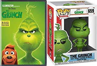 Helpers Santa Mean one Grinch + Illumination Dr. Seuss 圣诞动画假日经典 + Bonus Who-ville Funko *格林公仔! 公仔套装 DVD 豪华版 3 迷你卡通版