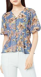 Royal Party 休闲礼服 花朵图案薄纱衬衫 女士