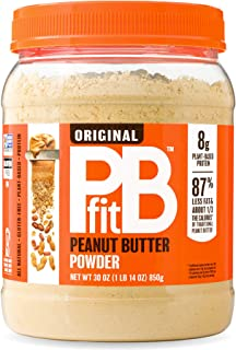 PBfit Natural Peanut Butter Powder, 30 Ounce, Peanut Butter Powder from Real Roasted Pressed Peanuts, Good Source of Prote...