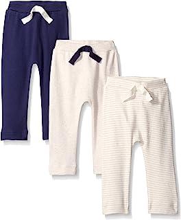 自然 touched 天然婴儿3只装有机棉裤子