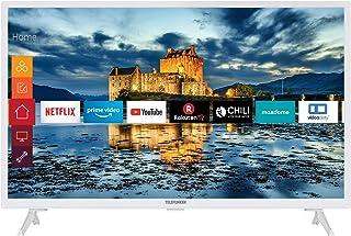 Telefunken XF32J511-W 32 英寸电视(智能电视包括Prime Video / Netflix / YouTube,全高清,配合Alexa,三调谐器)[202020]
