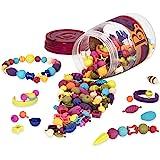 B.Beauty POPs 可重复使用 jr.珠多颜色形状和尺寸。附带弹力手链适让您打造创意趣味首饰