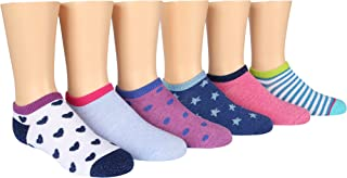Stride Rite Little Girls' 6 Pack Athletic Seamless No Shows