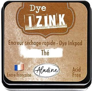 Aladine - Izink 染料茶棕色油墨 - 适用于垫和模板的快干墨水 - 剪贴簿和创意Cartery - 法国墨水 - 尺码 M - 5 x 5 厘米 - 棕色
