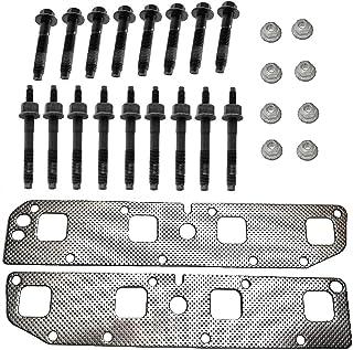 Everbuilt 排气歧管垫片套装兼容 Dodge 道奇Ram 充电器 Durango 5.7 L 引擎自 2003 - 2008 年。套装包括排气垫圈 + 螺栓 + 螺柱和螺母。