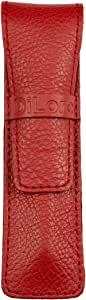 DiLoro 全粒面*品质真皮单笔套袖套 Buffalo Venetian Red