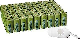 AmazonBasics 亚马逊倍思 带分配器和皮带夹的香味狗粪便袋,标准和 EPI 添加 * 810 Count