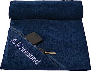 Khataland Premium Sports Fitness Gym Towel with Zipper Pocket