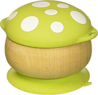 Haakaa Wooden Mushroom Bowl with Suction Base and Silicone Cap 绿色