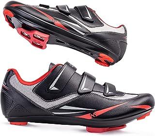 OutdoorMaster 男士公路自行车骑行鞋 Peloton 自行车鞋 带 2 个兼容的防滑外观 Delta&Shimano SPD/Look X-Track 骑鞋室内/室外男女皆宜