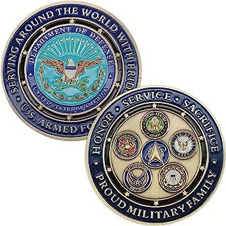 YKshop U.S. Proud Military Family Challenge 硬币*,*蓝,*,*,*,海岸警卫,太*