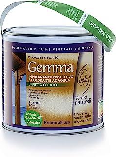 Solas U50U221E4 Gemma 天然防水浸渍,保护和营养,适用于木材,蜂蜜,2.5 升