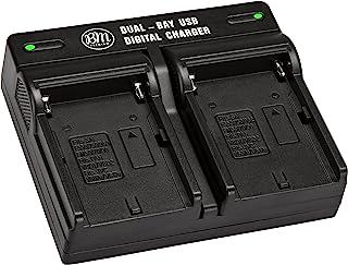 BM NP-F330、NP-F550、NP-F970 双槽电池充电器适用于索尼 PXW-Z150、NEX-EA50M、FDR-AX14K、HDR-AX2000、FX1、FX7、FX1000、HVR-HD1000、V1U、Z5U、HXR-NX5...
