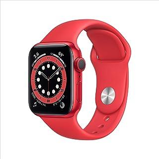 新款 Apple Watch 系列 6 (GPS,40mm) - 产品(红色) - 铝制保护套带产品(红色) - 运动表带